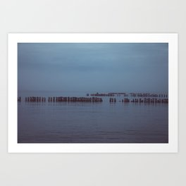 Where the Water Ends-4 Art Print