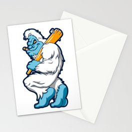 Baseball sasquatch Stationery Cards