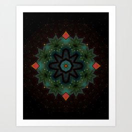 Ivy on the Iron Gate // Visionary Art Mandala Energy Meditation Yoga Bohemian Boho Witchy Decor Art Print