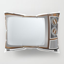 Old Television Set Pillow Sham