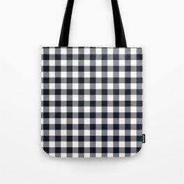 Small Black & White Vichy Tote Bag