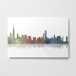 Chicago Skyline 1 BW1 Metal Print