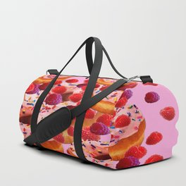 DELICIOUS PINK PASTRY & RASPBERRIES DESSERTS Duffle Bag
