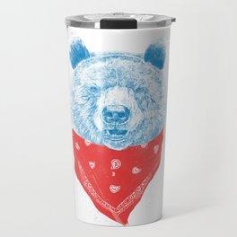 Wild bear (color version) Travel Mug