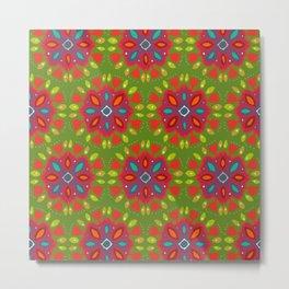 FLOR XL green Metal Print