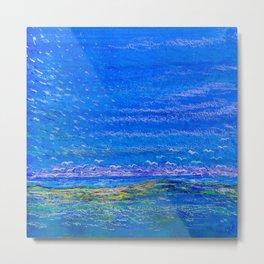 Blue landscape I Metal Print