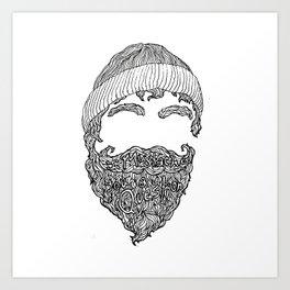 I Mustache You a Question Art Print