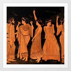 Club Life in Ancient Greece Art Print