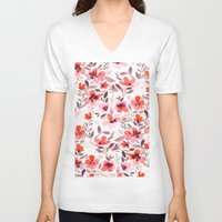 blush V-neck T-shirts featuring Espirit Blush by Jacqueline Maldonado