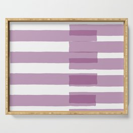 Big Stripes in Purple Serving Tray