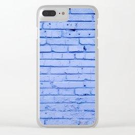 Blue Bricks Clear iPhone Case
