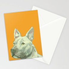 Pittbull printed from an original painting by Jiri Bures Stationery Cards