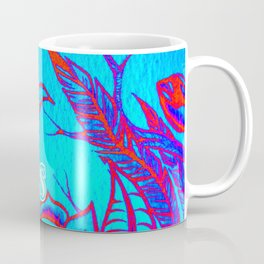Design by Steph Darling at The Nines Tattoo and Art Parlor Be Bright Blue Rose  Coffee Mug