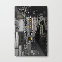 Yellow Cab from Above - Original #society6 exclusive Metal Print