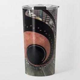 Spiral glass staircase Travel Mug