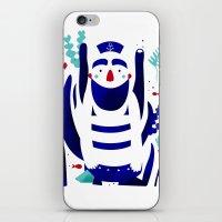 nemo iPhone & iPod Skins featuring Captain Nemo by Fabiola Correas