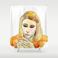 tenenbaum Shower Curtains featuring Margot Tenenbaum by Tessa Heck