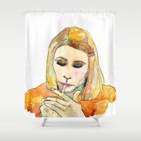 tenenbaum Shower Curtains featuring Margot Tenenbaum by Tessa Heck