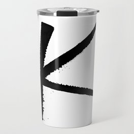 Letter K Ink Monogram Travel Mug