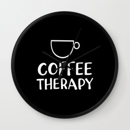 Coffee Therapy Wall Clock
