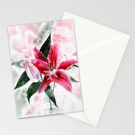 Lily Flower Stationery Cards