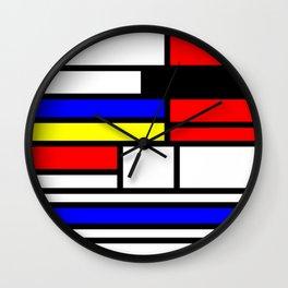 Cubism Painting Art Retro Pattern Wall Clock