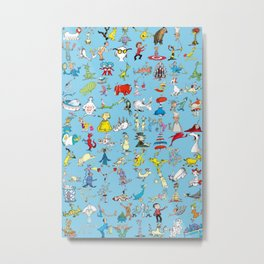 Dr. Seuss Characters Metal Print
