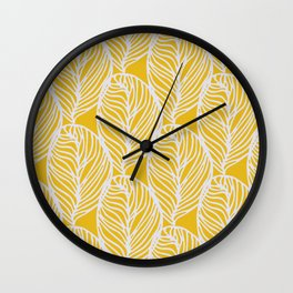 Petaluma, yellow Wall Clock
