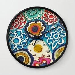 Murano Flowers Wall Clock