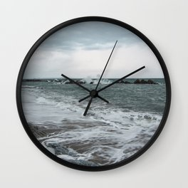 The sea ... mirror of the sky Wall Clock
