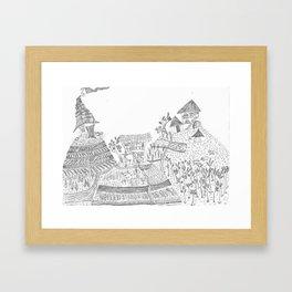 Landscape portrait of the sacred valley - Peru Framed Art Print