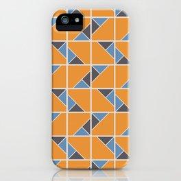 Retro Geometry surface pattern (Orange-blue) iPhone Case