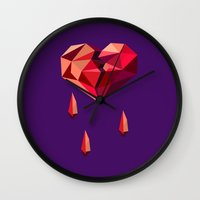 vector Wall Clocks featuring Heart vector by Tony Vazquez