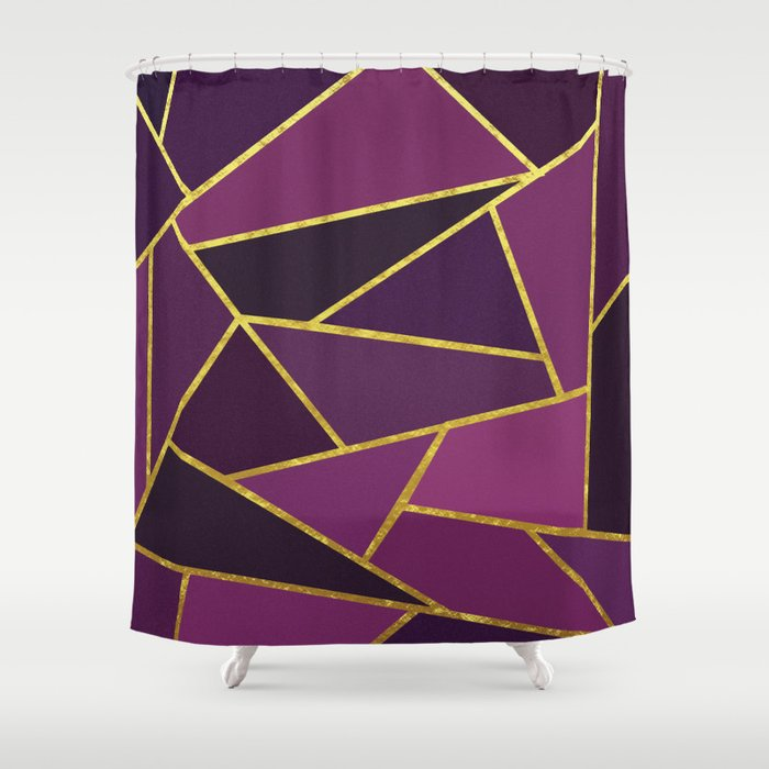 The Color Of Purple And Gold Shower Curtain By Henrikbakmann Society6