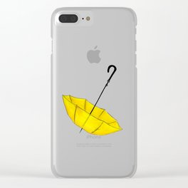 The Yellow Umbrella Clear iPhone Case
