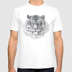 Tiger G003 MEDIUM White Mens Fitted Tee