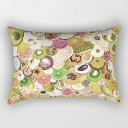 Fruit Madness (All The Fruits) Vintage Rectangular Pillow