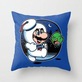 Super Marshmallow Bros. Throw Pillow