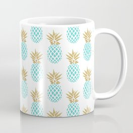 Elegant faux gold pineapple pattern Coffee Mug