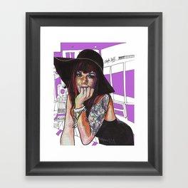 Uptown Girl Framed Art Print