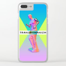 Maquinus Transhumanism ENG Clear iPhone Case