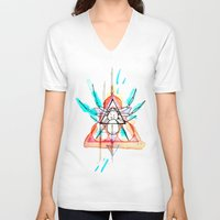 mother V-neck T-shirts featuring MOTHER by Mikah Washed
