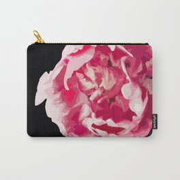 Pink Tulip Flower On A Black Background #decor #society6 #homedecor Carry-All Pouch