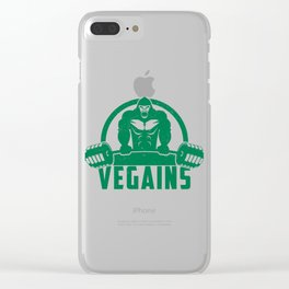 Vegains Vegan Muscle Gorilla Gift Clear iPhone Case