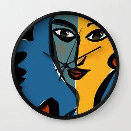 Staring at Matisse Wall Clock