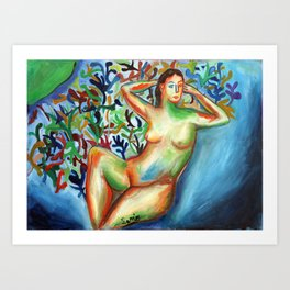 Sario painter, Danae Art Print