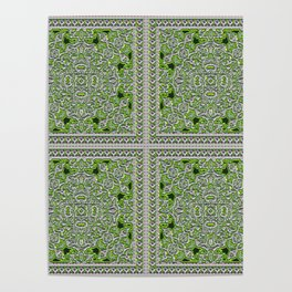 Green Crystal Tiles Poster