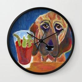 Hair of the Dog, an Animal Spirits painting  Wall Clock