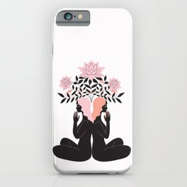 flowers and meditations iPhone Case