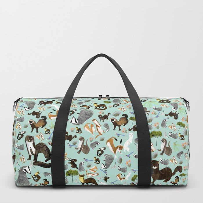 Mustelids from Spain pattern Duffle Bag